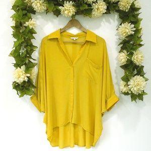 Mustard Yellow Button Down Blouse